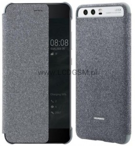 ORYGINALNE ETUI HUAWEI SMART VIEW COVER SZARY P10